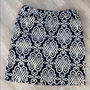 Jones of New York signature printed skirt